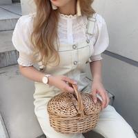 ガーリーオフシロサロペット【191-6030】