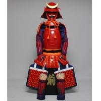 【O-060】●緋糸威赤桶側二枚胴具足