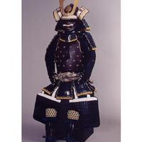 【O-046】紺糸威鉄錆笠鋲二枚胴具足(こんいとおどしてつさびかさびょうにまいどうぐそく)