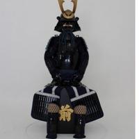 【O-058】●紺糸威黒桶側二枚胴具足(鍬形)