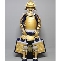 【O-073】●白糸威金塗桶側二枚胴具足
