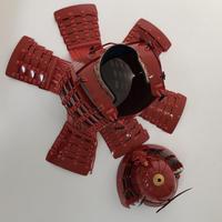 コロナ特別企画製品!赤糸威赤桶側二枚胴具足 USED ランクB