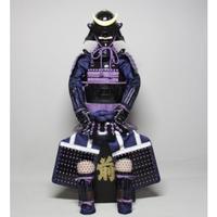 【O-056】紫糸威胸取黒桶側二枚胴具足