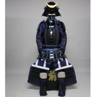 【O-063】●紺糸威黒桶側二枚胴具足