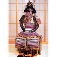 【O-011】本大札紫裾濃威腹巻鎧(一之谷兜)(ほんおおざねむらさきすそごはらまきよろい)