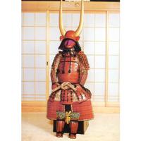 【O-035】赤糸威桶側二枚胴具足(あかいとおどしおけがわにまいどうぐそく)
