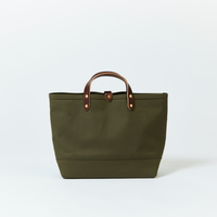 BOAT TOTE|Medium Olive × Brown