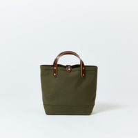 BOAT TOTE|Small Olive × Brown