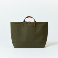 BOAT TOTE|Large Olive × Brown