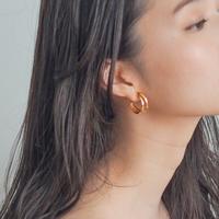 \coming soon/double hoop pierced earrings