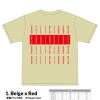 【先行予約】SOUTHSIDE DELICIOUS TeeShirt (1: Beige x Red)