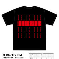 【先行予約】SOUTHSIDE DELICIOUS TeeShirt (3: Black x Red)