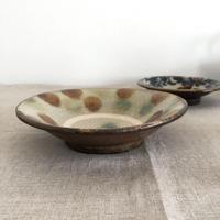 やちむん(沖縄陶器)ドット6寸皿