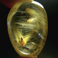 【まるで妖精】希少な飛翔型ヴィーナスヘア・ゴールドルチルクォーツの御守り石