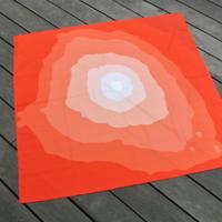 風呂敷『contour_FUJI・赤富士』
