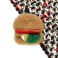 Burger brooch