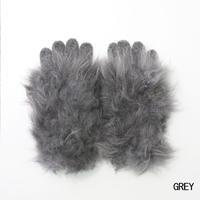 Cashmere fur gloves