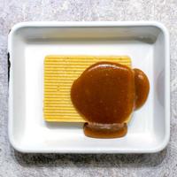 めざましテレビで紹介!新商品リリース前割引「安納芋キャラメルバタースコッチバターケーキ」鹿児島県産の安納芋と焦がしバターにバタースコッチソース(発送目安:注文から1ヶ月〜2ヶ月)
