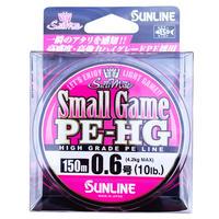 PEラインSUNLINE(サンライン)スモールゲームHG 150m 0.6号10lb