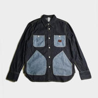 CHAMBRAY POCKET DENIM SHIRTS (INDIGO)