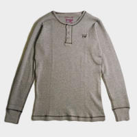WAFFLE HENRY L/S TEE (GRY)