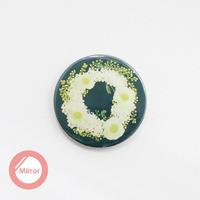 花柄リース_ポピー&ミモザ_裏ミラー【54mm】