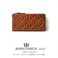 BORNTORUN ARMY  キルト型押し二つ折り長財布