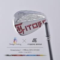 Designtuning × MTG STUDIOコラボ! ITOBORI削出しウェッジ / ロフト56°(クロムミラーレッド)