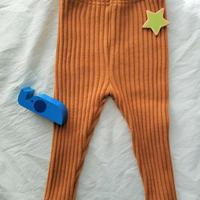 暖かいリブ編みボトムス
