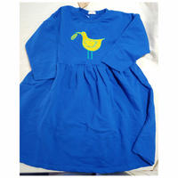 キイロいトリの青いスウェットワンピース