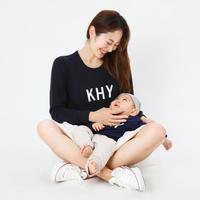 親子長袖トレーナー / おとな+お子さま   2点SET