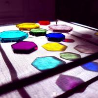 【セラピスト用】光と色の【オリジナル・カラーセラピーツール】光の箱+ヘキサゴン