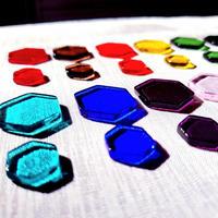 【一般の方用】色ガラスのヘキサゴンのみ*光と色の【オリジナル・カラーセラピーツール】