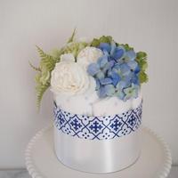 おむつケーキ1段『morocco blue mini 』