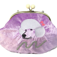 Let's Go poodle (PR)|Make-up pouch|velour [DW2-2007]