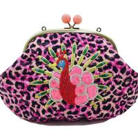 Peacock METAL (PK)|Make-up pouch [DW2-3005]