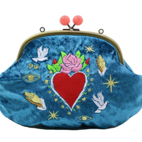 Love and Peace (BL)|Make-up pouch|velour [DW2-2009]