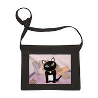 黒猫PUKU サコッシュ 「呼んだ?」