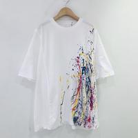 00○○ ペイントワイドTシャツ /2007-134