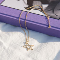 【18KGP】star gold necklace