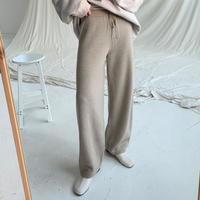 【SALE】knit wide pants