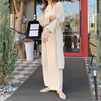 linen wrapping gown