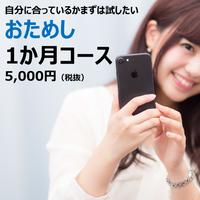 おためし1か月 5,000円(税抜)
