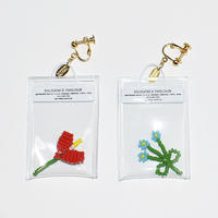 Clear Bag Earring/RED