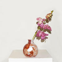 Marble Ball Flower Vase(W11×H13)/RED