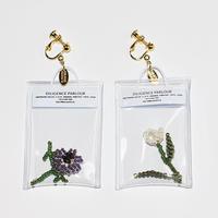 Clear Bag Earring/PURPLE