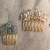crystal stone comb(long)