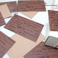 feelings chocolate メッセージカード
