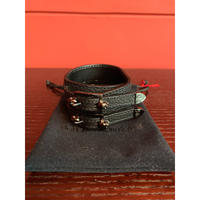 BLACK HONEY CHILI COOKIE/Skull Buckle Leather Bracelet /2902715