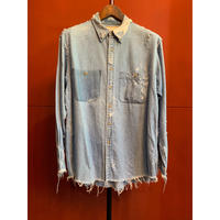 RESURRECTION/Damage Denim Shirt